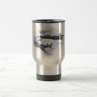 P-51 Mustang flying escort Travel Mug