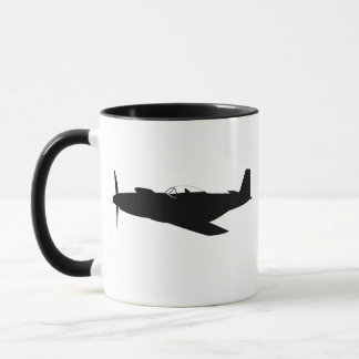 P-51 Mustang Silhouette Mug