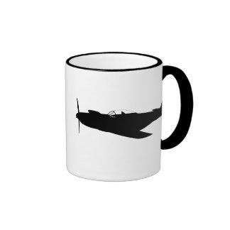 P-51 Mustang Silhouette Coffee Mug