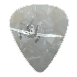 P-51 Mustang takeoff in storm Pearl Celluloid Guitar Pick