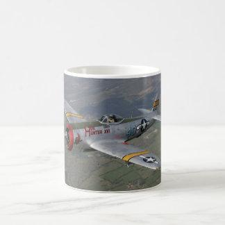 p-51 plane magic mug