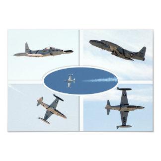 P-80 ensemble d'avion de l'étoile filante 5 carton d'invitation 8,89 cm x 12,70 cm