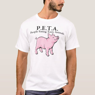 P.E.T.A. People Eating Tasty Animals Bacon Pig T-Shirt