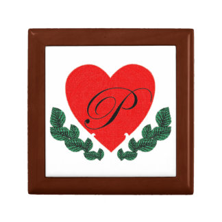 P in a heart gift boxes