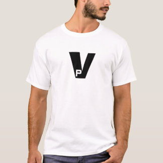 P in a V T-Shirt