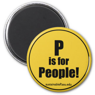 P is for People! (magnet) Magnet