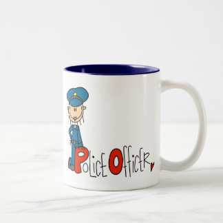 P is for Police Officer Two-Tone Coffee Mug