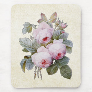P.J. Redoute Bourbon Rose Bouquet Mouse Pad