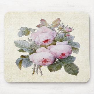 P.J. Redoute Bourbon Rose Mousepads