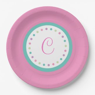 P.J. Tuttles Curly Princess Custom Paper Plates 9""