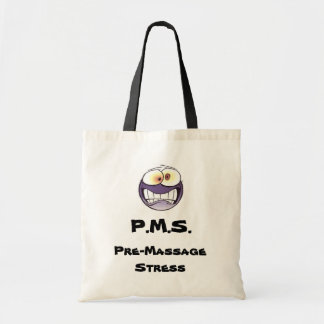 P.M.S. Pre-Massage Stress Canvas Tote