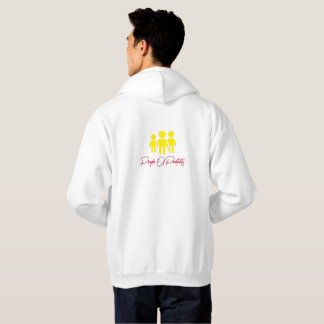 P.O.P Sweatshirt/ white with design front/back Hoodie