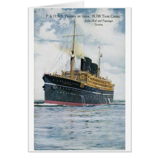P&O S.S. Viceroy of India - Vintage Travel Poster Card