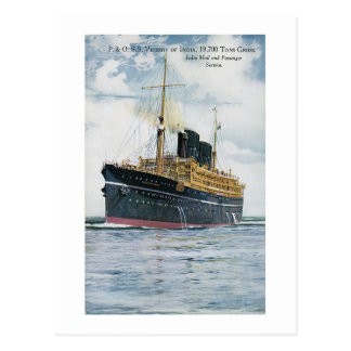 P&O S.S. Viceroy of India - Vintage Travel Poster Postcard