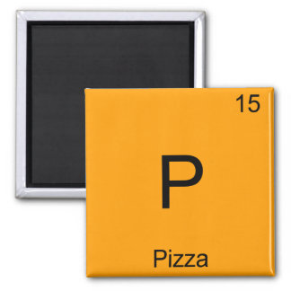 P - Pizza Funny Chemistry Element Symbol T-Shirt Magnet