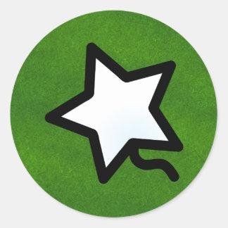 P. Quinstar round Round Sticker