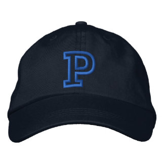 """P"" Small Athletic Letter Embroidered Hat"