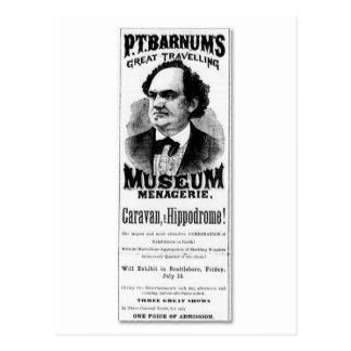 P.T. Barnum's Great Traveling Museum Menagerie Postcard