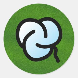 P. Trillia round Round Sticker