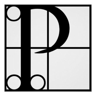 P- Typography Initial Perfect Poster