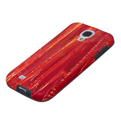 © P Wherrell Contemporary red fine art abstract Galaxy S4 Case