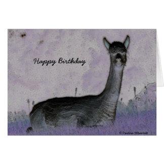 © P Wherrell Cute alpaca digital art Card
