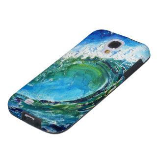 © P Wherrell Fine art oil painting wave ocean sea Galaxy S4 Case