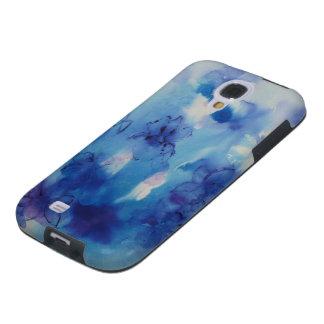 © P Wherrell Fine art painting blue irises Galaxy S4 Case
