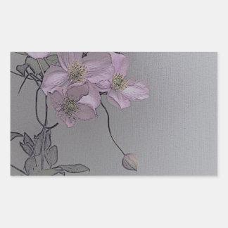 © P Wherrell Gorgeous stylish pale pink clematis Sticker