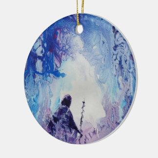© P Wherrell Special light spiritual landscape Ceramic Ornament