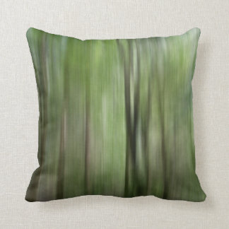 © P Wherrell Woodland blur fine art photo trees Throw Pillow
