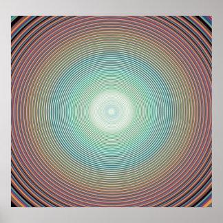 PA de DIGITAL colorée de l'arrière - plan 2222 d'a Affiches