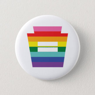 PA Keystone Marriage Equality Rainbow Graphic 2 Inch Round Button