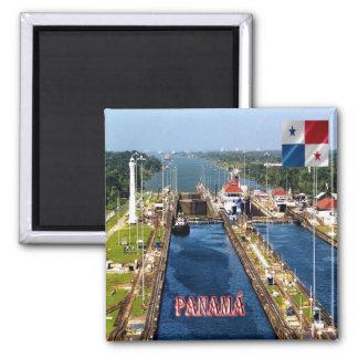 PA - Panama - Canal Locks Square Magnet
