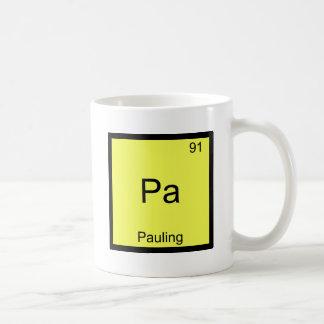 Pa - Pauling Funny Chemistry Element Symbol Tee Coffee Mug