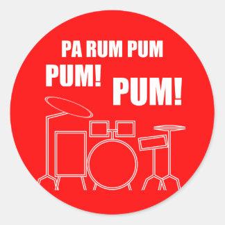 Pa Rum Pum Pum Pum Classic Round Sticker