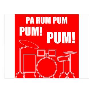 Pa Rum Pum Pum Pum Postcard