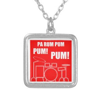Pa Rum Pum Pum Pum Silver Plated Necklace