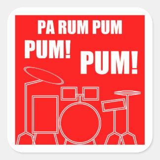 Pa Rum Pum Pum Pum Square Sticker