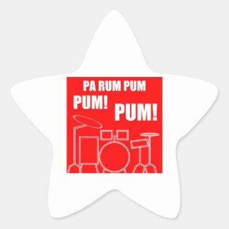 Pa Rum Pum Pum Pum Star Sticker
