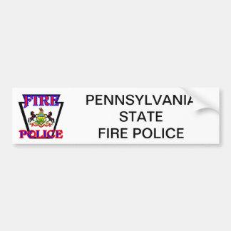 PA STATE FIRE POLICE BUMPER STICKER