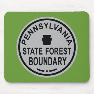 PA State Forest Boundary Mouse Pad