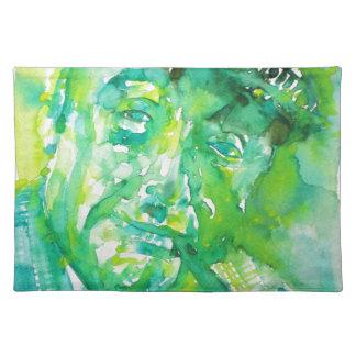 pablo neruda -watercolor portrait.4 placemat