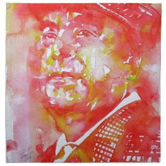 pablo neruda -watercolor portrait.5 napkin