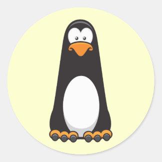 Pablo the Pensive Penguin Classic Round Sticker