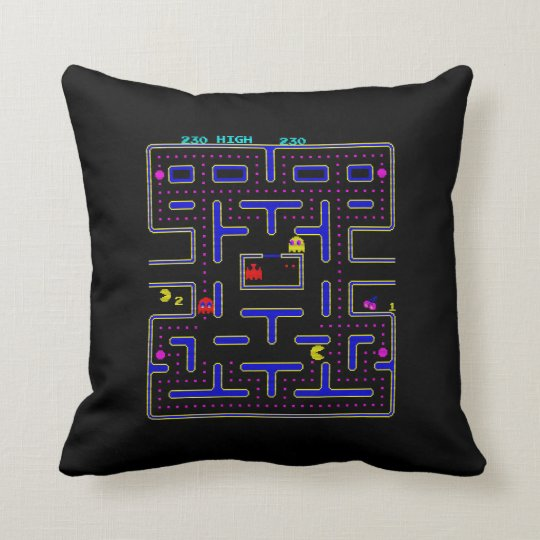 pac-cushion throw pillow