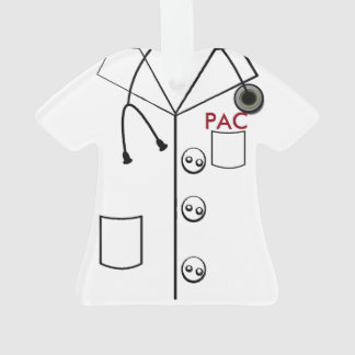 PAC LAB COAT CHRISTMAS ORNAMENT 2 SIDES CUSTOMIZE