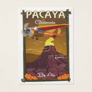 Pacaya Volcano Guatemala travel poster Business Card