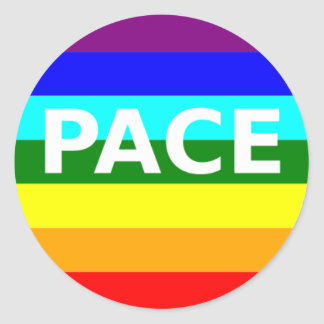 Pace(Peace) Flag Italian Classic Round Sticker