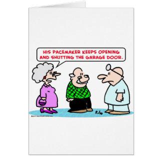 pacemaker garage door open shut card